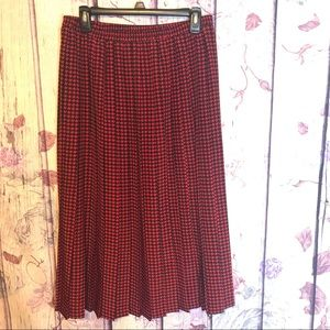[LESLIE FAY] VINTAGE HOUNDS TOOTH SKIRT #118